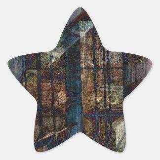 Cubist Shutters, Doors & Windows Star Sticker
