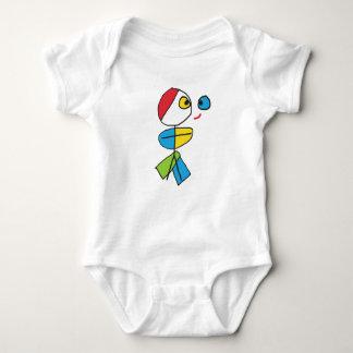 Cubist Stickman Baby Bodysuit