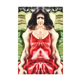 Cubist woman canvas print