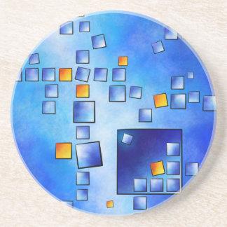 Cublerossia V1 - falling cubes Drink Coaster