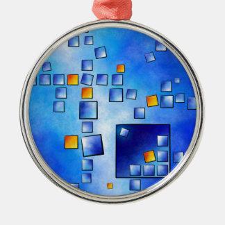 Cublerossia V1 - falling cubes Metal Ornament