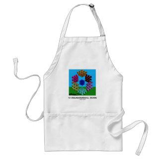 cubo 4-Dimensional (matemáticas y geometría) Delantal