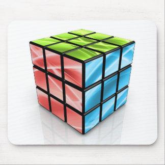 Cubo abstracto alfombrillas de raton