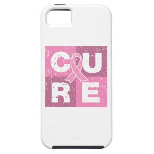 Cubo apenado del cáncer de pecho de la CURACIÓN iPhone 5 Carcasas