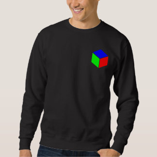 Cubo - azul, verde y rojo suéter