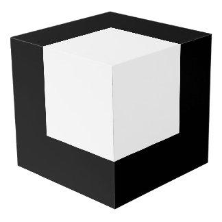 """Cubo blanco y negro en el cubo 8"""" cubo"""