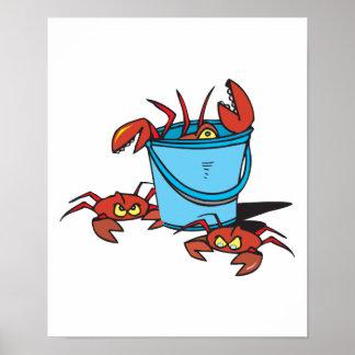 cubo de cangrejos póster
