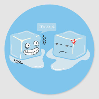 Cubo de hielo de congelación - pegatina
