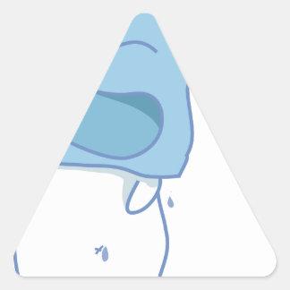 Cubo de hielo de Haha Pegatina Triangular