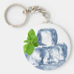 Cubo de hielo fresco usted mismo llaveros personalizados