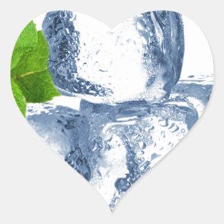 Cubo de hielo fresco usted mismo pegatina en forma de corazón