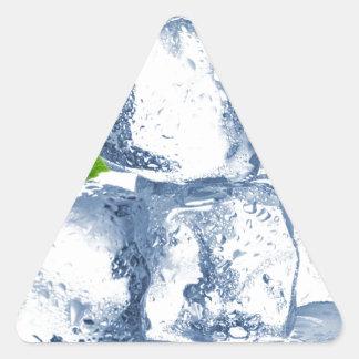 Cubo de hielo fresco usted mismo pegatina triangular