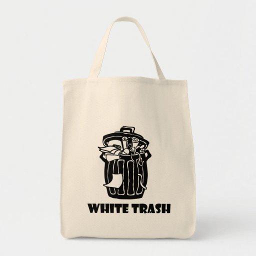 Cubo de la basura de la basura blanca bolsas