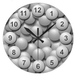 Cubo de la bola de la práctica del golf reloj redondo grande