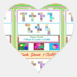 CUBO de la calle 7 del FRIKI: Lecciones del arte Pegatina En Forma De Corazón