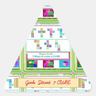 CUBO de la calle 7 del FRIKI: Lecciones del arte Pegatina Triangular