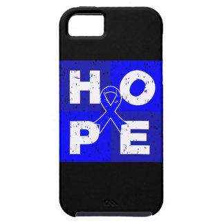 Cubo de la ESPERANZA del cáncer rectal iPhone 5 Case-Mate Cobertura