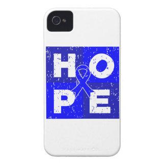 Cubo de la ESPERANZA del cáncer rectal iPhone 4 Carcasa