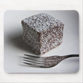 Cubo de la torta de chocolate alfombrilla de ratón
