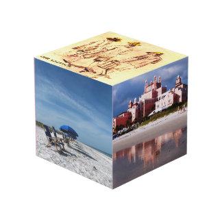 Cubo de madera de encargo de la foto