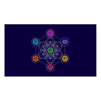Cubo de Metatrons, Chakras, centros de energía Tarjetas De Visita