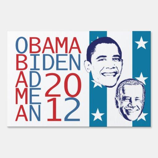 Cubo de Obama Biden 2012 Letreros