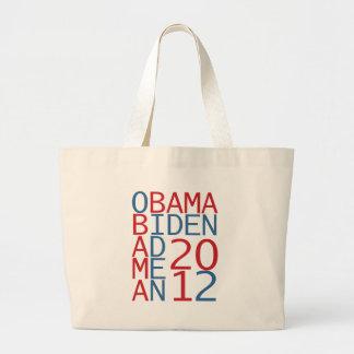Cubo de Obama - de Biden 2012 Bolsas De Mano