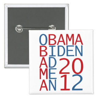 Cubo de Obama - de Biden 2012 Pin Cuadrada 5 Cm