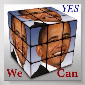 Cubo de Obama del cuartel, podemos SÍ Póster