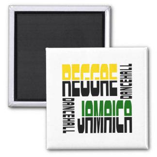 Cubo de pasillo de danza de Jamaica del reggae, 3  Imán Cuadrado