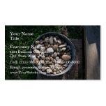 Cubo de piedras plantilla de tarjeta de visita