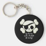 Cubo de pirata del caramelo llaveros personalizados