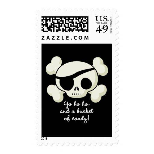 Cubo de pirata del caramelo sellos