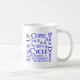 Cubo del ciclo, azul taza de café