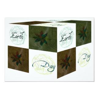 """Cubo del Día de la Tierra Invitación 5"""" X 7"""""""