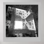Cubo del fractal póster
