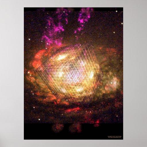 Cubo galáctico posters