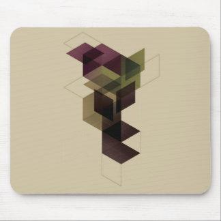Cubo geométrico retro tapete de raton