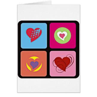 Cubo lindo del corazón tarjeta de felicitación