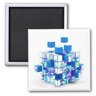 cubo mágico divertido imán cuadrado