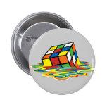 Cubo Mágico Pin Redondo De 2 Pulgadas