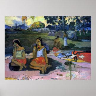 Cubo Moe del cubo de Eugène Enrique Paul Gauguin Póster