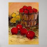 cubo por completo de manzanas poster