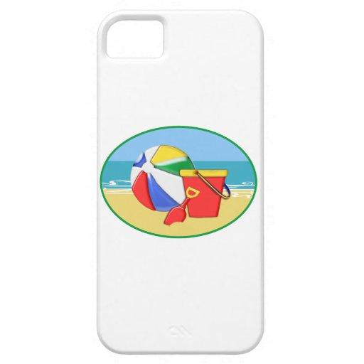 Cubo y pala de la pelota de playa iPhone 5 Case-Mate fundas