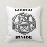 Cuboid Inside (Rhombicuboctahedron) Throw Pillows