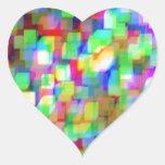 Cubos adaptables pegatina en forma de corazón