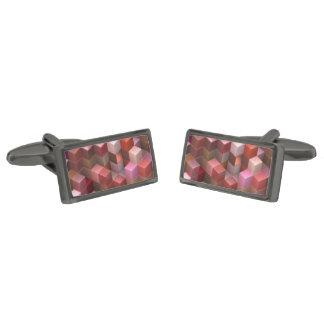 cubos artísticos 9 (i) rosado gemelos metalizados