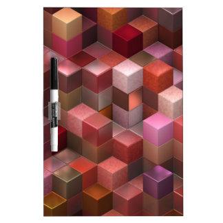 cubos artísticos 9 (i) rosado pizarras blancas de calidad