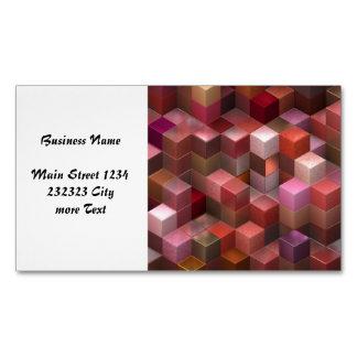 cubos artísticos 9 (i) rosado tarjetas de visita magnéticas (paquete de 25)