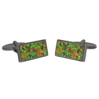 cubos artísticos (i) verde gemelos metalizados